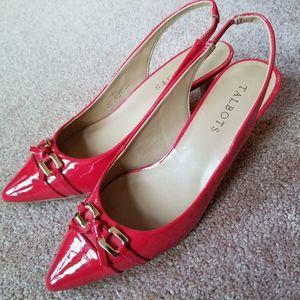 Talbots Dayla Red Poppy Slingback Pumps Size 7B